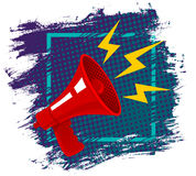 Red retro megaphone. Royalty Free Stock Images