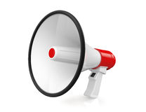 Red Retro megaphone Stock Image