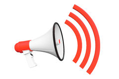 Red Retro megaphone Royalty Free Stock Photos