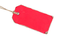 Red Retro Paper Tag Royalty Free Stock Image