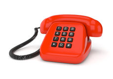 Red retro phone Royalty Free Stock Image