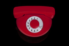 Red retro phone. Stock Photo
