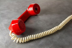 Red retro phone Stock Image