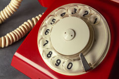 Red retro phone Royalty Free Stock Photos