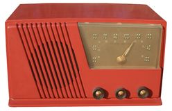 Red retro radio. Funky set from the 1950s Stock Photo