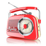 Red Retro Radio Receiver Royalty Free Stock Photography