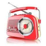 Red retro radio receiver Royalty Free Illustration