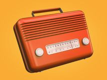 Red retro radio Royalty Free Illustration