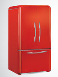 Red retro refrigerator Royalty Free Stock Photography