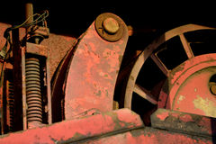 Red retro round machinery Royalty Free Stock Images