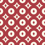 Red retro seamless pattern Stock Photography