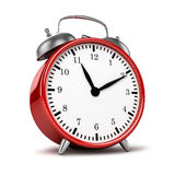 Red retro styled classic alarm clock  Royalty Free Stock Photography