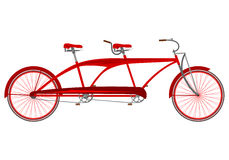 Red retro tandem Stock Photo