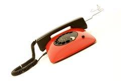Red retro telephone Royalty Free Stock Photo