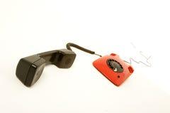 Red retro telephone Stock Photography