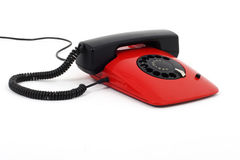 Red retro telephone Stock Photo