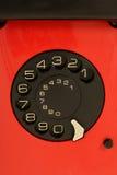 Red retro telephone Stock Photo
