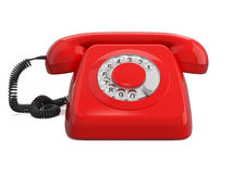 Red retro telephone Stock Images