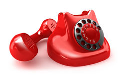 Red retro telephone Stock Photography