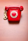 Red retro telephone Royalty Free Stock Photos