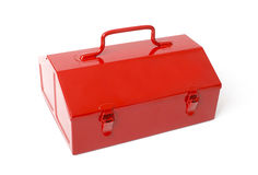 Red retro toolbox isolated Royalty Free Stock Photography