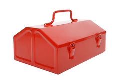 Red retro toolbox isolated Stock Image