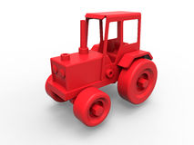 Red retro toy tractor Royalty Free Stock Images