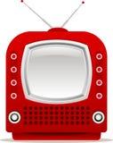 Red retro tv Stock Photography