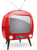 Red retro tv Royalty Free Stock Photos
