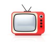 Red retro TV Stock Images