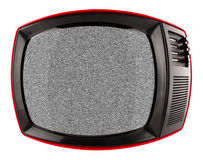 Red retro tv Stock Images