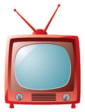 Red retro tv set Stock Image