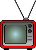 Red Retro TV Royalty Free Stock Images