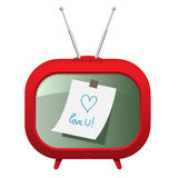 Red retro tv Stock Photo