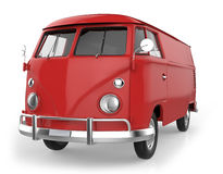 Red retro van Royalty Free Stock Photo