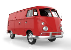 Red retro van Stock Photos