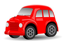 Red Retro / Vintage Car Cartoon Vector Royalty Free Stock Photos
