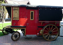 Red retro wagon Stock Images