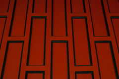 Red retro wood paneling,Oblique angle. Royalty Free Stock Photo