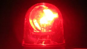 Red revolving light stock footage