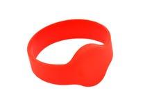 Red RFID bracelet Stock Photo