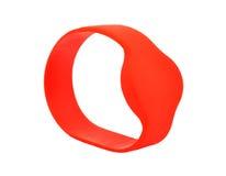Red RFID bracelet Stock Image