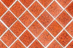 Red rhomboid tile mosaic Royalty Free Stock Image