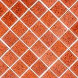 Red rhomboid tile mosaic Stock Photos