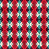 Red rhombus seamless pattern with grunge effect Stock Photo