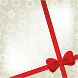 Red ribbon. On christmas background Royalty Free Stock Photography