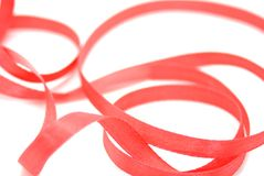 Red ribbon. Stock Image