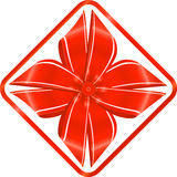 Red ribbon. Illustration of red ribbon on white background Royalty Free Stock Image