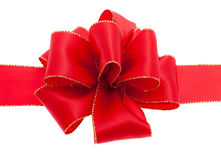 Red ribbon. In front of white background Stock Photos