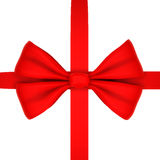 Red ribbon. Isolated on white Stock Image